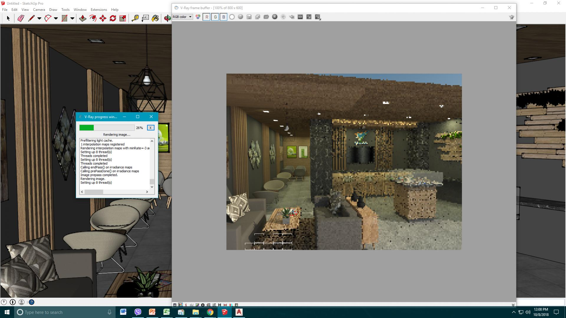 Help Vray Sketch Up Stops Rendering V Ray Cgarchitect Forums